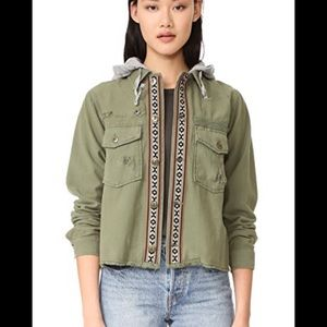 Free People Weekend Wanderer Green Utility Jacket